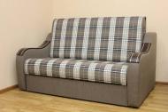 Марта 1,6, диван в ткани шотландия кофе и однотон