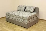 Микс 1,4, кровать в ткани салют браун и однотон