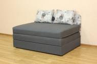 Микс 140, диван в ткани пандора грей и артемик дк грей