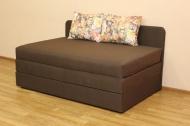 Микс 160, диван в ткани фелисия браун и однотон