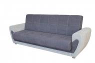 Мишель, диван в ткани мисти дк грей и респект 54