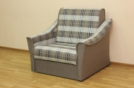 Натали 0,8, кресло в ткани шотландия кофе и комби кофе