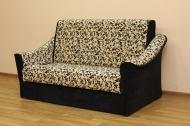 Натали 140, диван в ткани кордрой флок 278 и рим черный