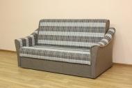 Натали 160, диван в ткани шотландия кофе и однотон