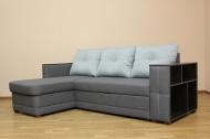 Ника, угловой диван в ткани лизбон 412юм11 и саванна дк грей