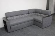 Николь , угловой диван в ткани альфа грей и латте