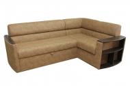 Николь, угловой диван в ткани альфа кэмэл
