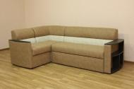 Николь, угловой диван в ткани альфа кемел и беж