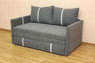 Орфей, диван в ткани изи антрацит и полоса -1