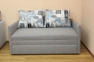 Орфей, диван в ткани принт 002а и однотон