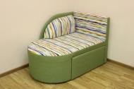 Панда, диван в ткани автобеби зеленый и однотон