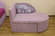 Панда, диван в ткани карелия комби роуз и жасмин лилак