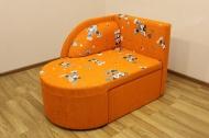 Панда, диван в ткани мики оранж