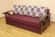 Юлия, диван в ткани бордо <h2>Цена - 5970 грн (<strike> 7998 грн </strike>)</h2><strong>