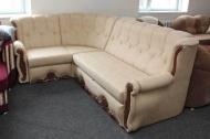 Роксана, угловой диван в ткани альфа карамель