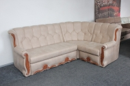 Роксана, угловой диван в ткани амели какао