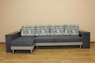 Сафари, угловой диван в ткани экшен 02 и мисти дк грей и мисти мокко