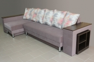 Сафари, угловой диван в ткани гэлакси 04 и шеги ява
