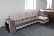 Сафари, угловой диван в ткани кортекс ява и кортекс беж