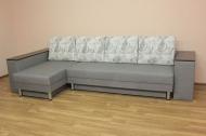 Сафари, угловой диван в ткани мистери беж и винсент визиум