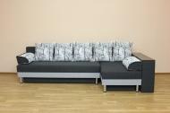 Симфония, угловой диван в ткани шанель вайт и дс 44