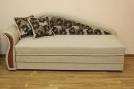 Софа 1, диван в ткани леланж браун и черва 01