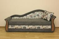 Софа 3, диван в ткани принт 2А и эльдорадо мушрум