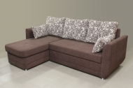 Татьяна, угловой диван в ткани ажур беж браун и мисти шоко