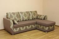 Татьяна угловой диван в ткани ивори и кошемир шоко