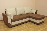 Татьяна угловой диван в ткани колибри беж и шоко