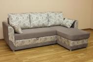 Татьяна, угловой диван в ткани феринзе магнолия и однотон