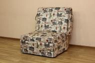 Тихон, кресло кровать в ткани принт 2а