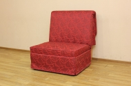 Тихон, кресло в ткани геометрия бордо