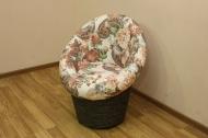Тюльпан, диван в ткани делиция браун и однотон