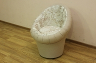 Тюльпан, кресло в ткани бланка беж и однотон