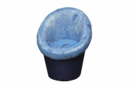 Тюльпан, кресло в ткани кафу д 109 333 и однотон