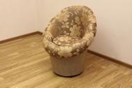 Тюльпан, кресло в ткани малибу голд и однотон