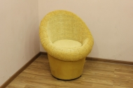 Тюльпан, кресло в ткани палерма желтая