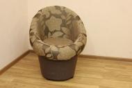 Тюльпан , кресло в ткани ренуар фловер браун и однотон
