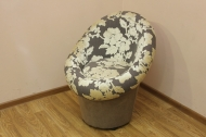 Тюльпан, кресло в ткани рива беж и однотон