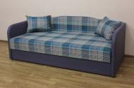 Василек, диван в ткани ексель азур и балтик виолет - 1