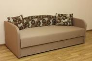 Василек, диван в ткани леланж браун и однотон