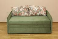 Виола, диван в ткани элва грин и делиция браун