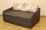 Виола, диван в ткани фелиссия браун и саванна люкс браун