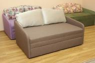 Виола, диван в ткани контес беж и саванна люкс капучино