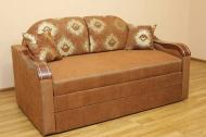 Вояж Н 1,6, диван в ткани кафу д 102-248 и однотон