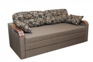 Вояж НК 1,6 диван в ткани нео флок капучино и однотон