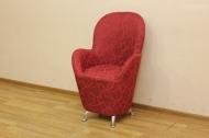 Жасмин, кресло в ткани геометрия бордо