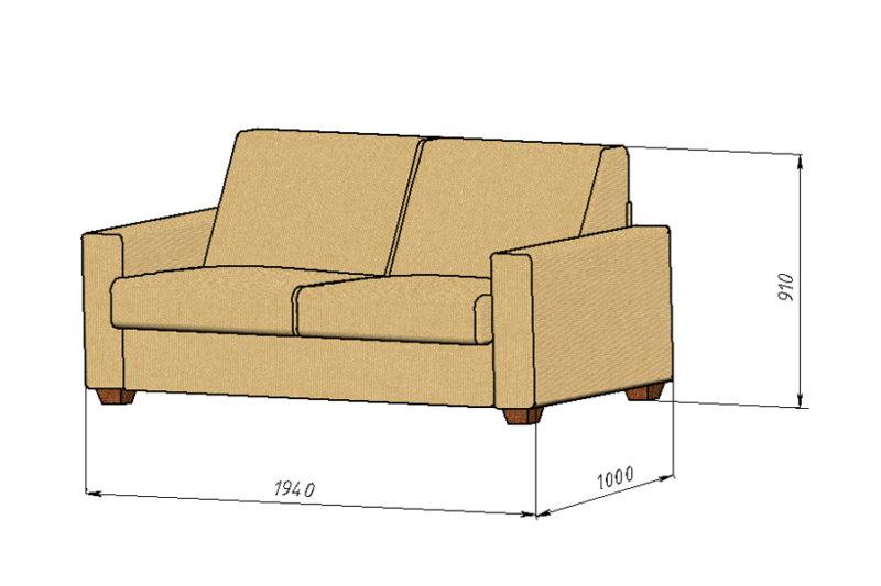 Антарес, диван, размеры
