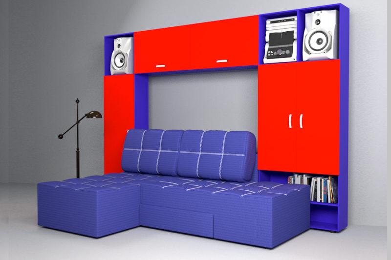 Бруклин, диван с антресолями ( модификация )